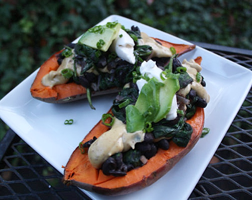 Smokey Sweet Potato Boat Recipe!